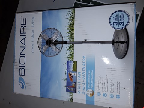 Lot 7526 BRAND NEW BOXED BIONAIRE BASF1516 DESK AND STAND FAN RRP £99.99