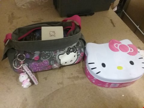 Lot 7066 LOT OF 2 ITEMS TO IN LUDE HELLO KITTY EAU DE PARFUM AND HELLO KITTY GIFT BAG