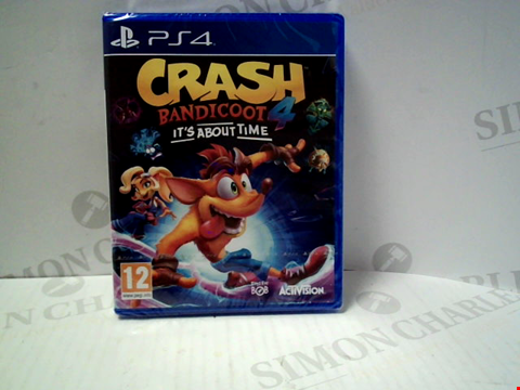 Lot 5714 CRASH BANDICOOT 4: IT'S ABOUT TIME PLAYSTATION 4 GAME