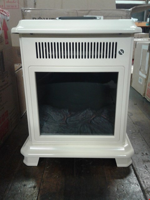 Lot 7080 LOT OF 2 ITEMS TO INCLUDE BOXED POWER HEAT ELECTRIC FIRE PLACE STOVE HEATER CREAM, CE BLACK COLOUR AIR FRYER
