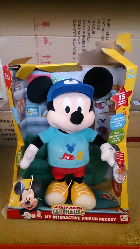 Lot 2354 A SET OF 2 ASSORTED ITEMS INCLUDING A SET OF 3 LASSER EFFECTNGIFT BOXES AND A INTERACTIVE FRIEND MICKEY. RRP £120.00