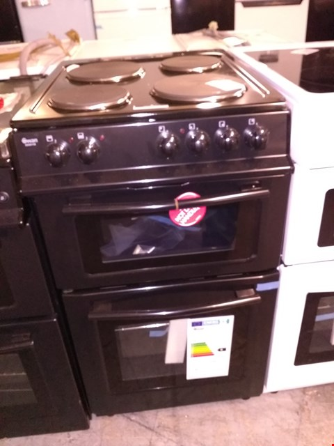 Lot 34 SWAN SX2011B 50CM WIDE FREESTANDING TWIN CAVITY ELECTRIC OVEN