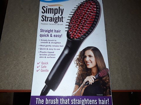 Lot 2109 BOX OF APPROXIMATELY 40 BRAND NEW SIMPLY STRAIGHT HEATED CERAMIC BRUSH