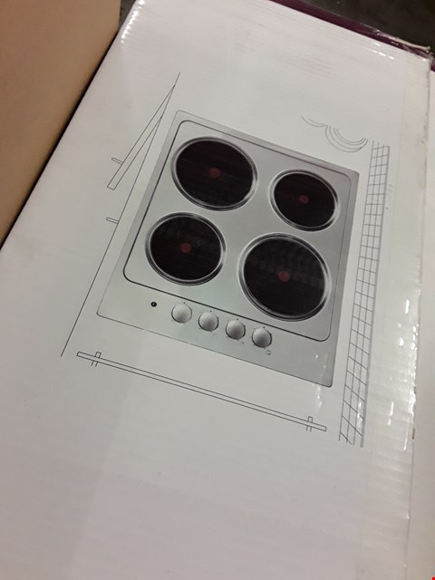 Lot 38 COOKE & LEWIS SOLID PLATE HOB RRP £109