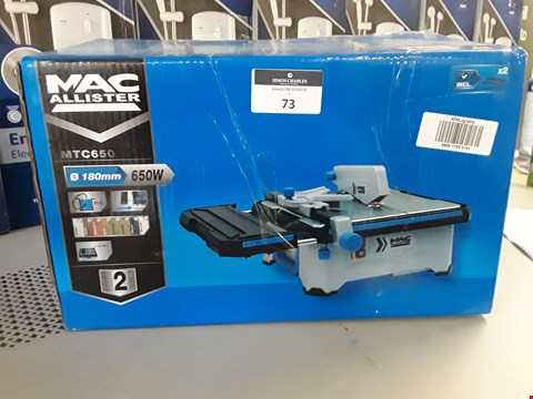 Lot 73 BOXED MACALLISTER MTC650 TILE CUTTER 650W