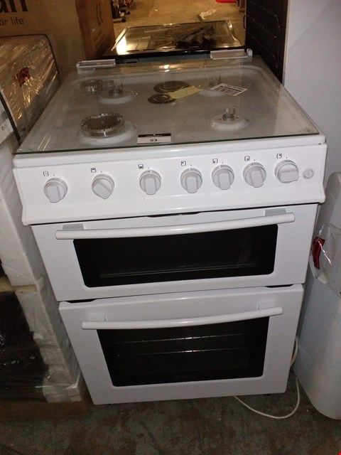 Lot 53 SWAN SX2061W DOUBLE OVEN GAS COOKER - WHITE
