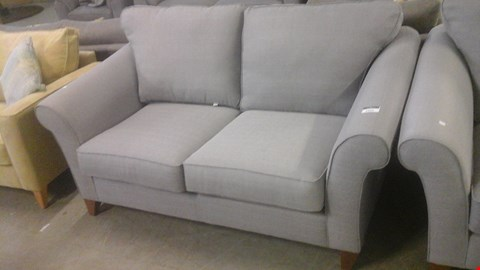 Lot 1255 DESIGNER SILVER FABRIC 2 SEATER SOFA