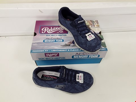 Lot 490 PAIR OF SKETCHERS BLUE TRAINERS SIZE 3