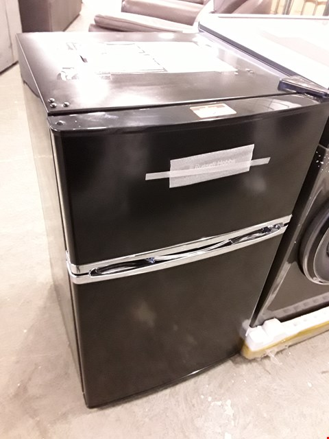 Lot 96 RUSSELL HOBBS 50CM WIDE UNDER COUNTER  BLACK FRIDGE /FREEZER  RRP £239.00