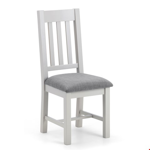 Lot 2040 BOXED PAIR GRADE 1 RICHMOND DINING CHAIRS - ELEPHANT GREY