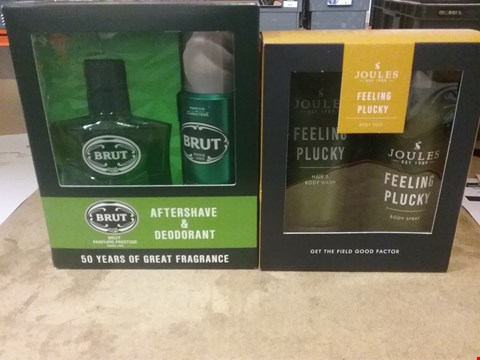 Lot 7047 LOT OF 2 ITEMS TO INCLUDE BRUT AFTERSHAVE AND DEODORANT, JOULES FEELING PLUCKY SHOWER WASH AND DEODORANT