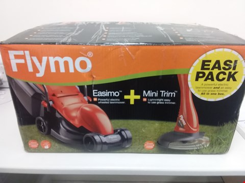 Lot 9077 FLYMO EASIMO LAWNMOWER + MINI TRIM GRASS TRIMMER RRP £120.00