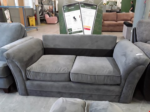 Lot 7 DESIGNER GREY FABRIC 2 SEATER SOFA