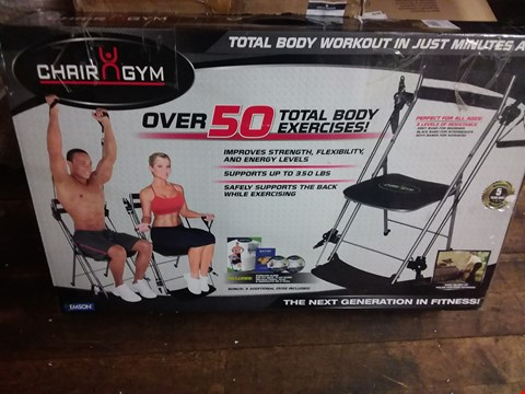 Lot 629 BOXED CHAIR GYM TOTAL BODY EXERCISE MACHINE
