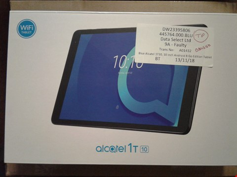 Lot 2815 ALCATEL 1T 1, 10 INCH ANDEROID 8 GO EDITION TABLET