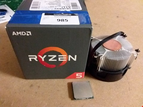 Lot 985 AMD RYZEN 5 1500X DESKTOP CPU-AM4 (QUAD CORE,3.5GHZ -3.7GHZ TURBO,65W)