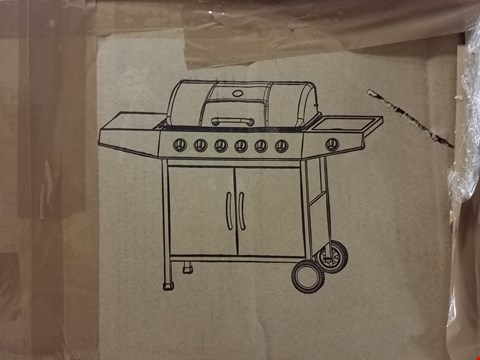 Lot 3391 6 BURNER PROMO BBQ GRILL WITH SIDE BURNER RRP £499.00