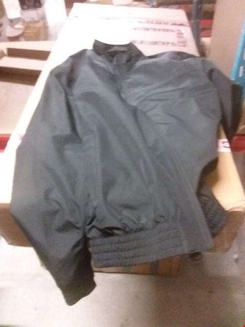 Lot 155 A BOX OF APPROXIMATELY 8 ASSORTED CLOTHING ITEMS TO INCLUDE A INTERNATIONAL BOLT BOMBER JACKET