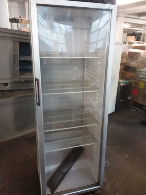 Lot 2140 ESTA COMMERCIAL GLASS FRONTED TALL CHILLED DRINKS UNIT