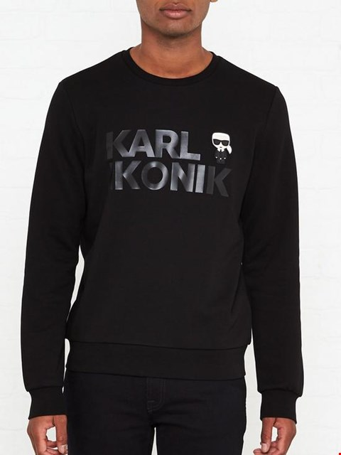 Lot 7036 KARL LAGERFELD MINI KARL LOGO BLACK SWEATSHIRT - SIZE MEDIUM