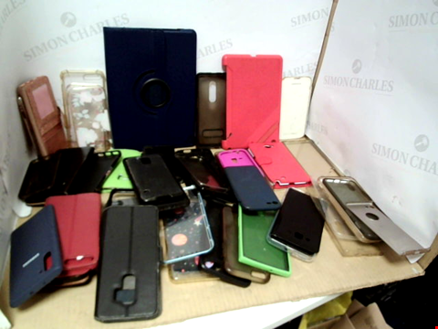Lot 6191 BOX OF ASSORTED PHONE AND TABLET CASES ETC