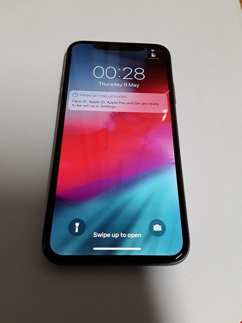 Lot 587 APPLE IPHONE X 256GB MOBILE PHONE - SPACE GREY