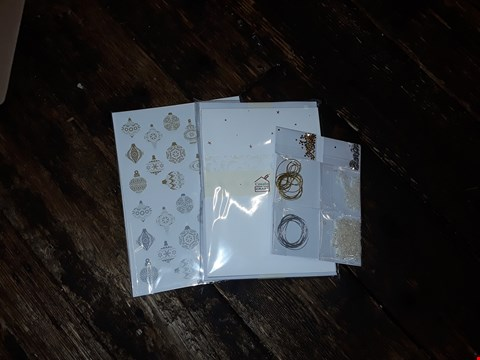Lot 2043 LOT OF APPROXIMATELY 18 BRAND NEW CREATE AND CRAFT CHRISTMAS BAUBLE CARD KITS (3 BOXES)