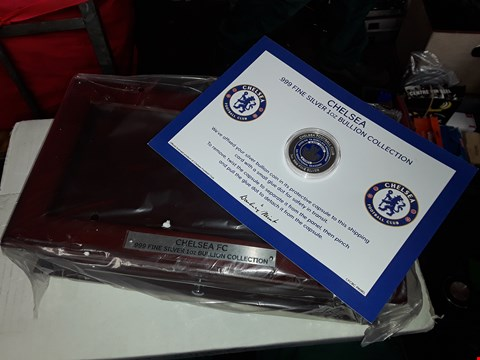 Lot 2577 CHELSEA FC SILVER COIN AND DISPLAY BOX