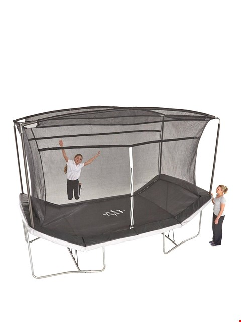 Lot 3039 BOXED SPORTSPOWER 14X8 FT REBOUND TRAMPOLINE (2 BOXES) RRP £639.99