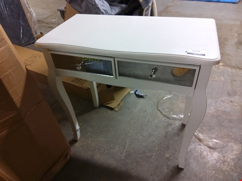 Lot 9076 DESIGNER WHITE 2-DRAWER MIRRORED DESK