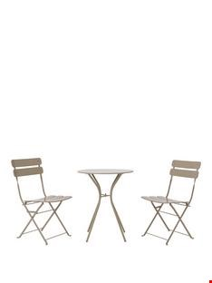 Lot 25 STOCKHOLM BISTRO SET WITH FOLDING CHAIRS  RRP £199.98