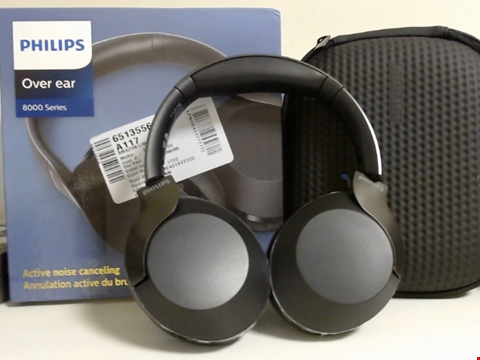 Lot 15072 PHILIPS WIRELESS HEADPHONES PH805BK/00 BLUETOOTH HEADPHONES (BLUETOOTH, ACTIVE NOISE CANCELLING, 30 HOURS BATTERY LIFE, HI-RES AUDIO, MICROPHONE, GOOGLE ASSISTANT, QUICK CHARGING FEATURE) BLACK