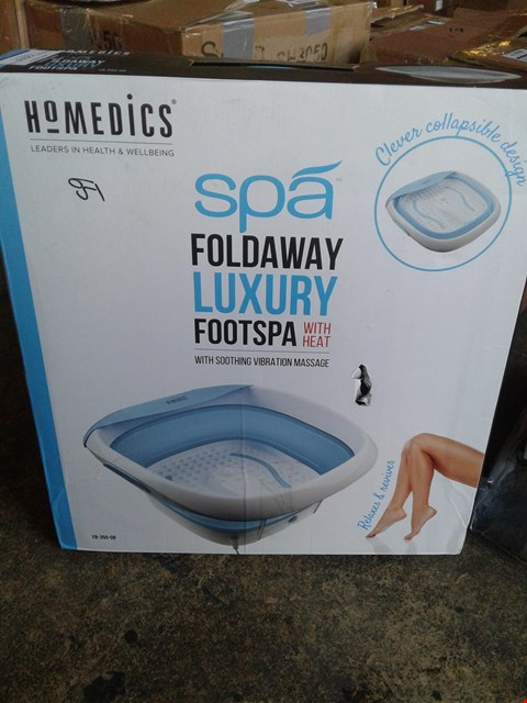 Lot 6603 BOXED GRADE 1 HOMEDICS FOLDAWAY LUXUARY SPA  RRP £65