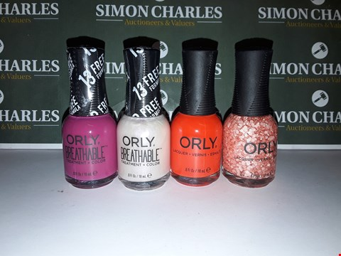 Lot 61 LOT OF 4 ASSORTED ORLY NAIL POLOSHES