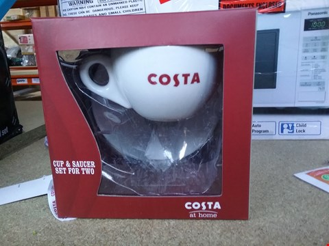 Lot 2423 BOXED COSTA CUP AND SAUCER GIFT SET
