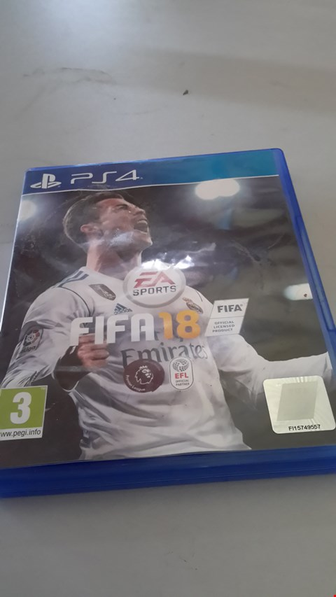 Lot 9030 FIFA 18 FOR PLAYSTATION 4