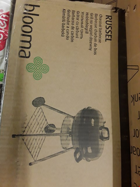 Lot 6 BOXED BLOOMA RUSSEL CHARCOAL BARBECUE  RRP £30