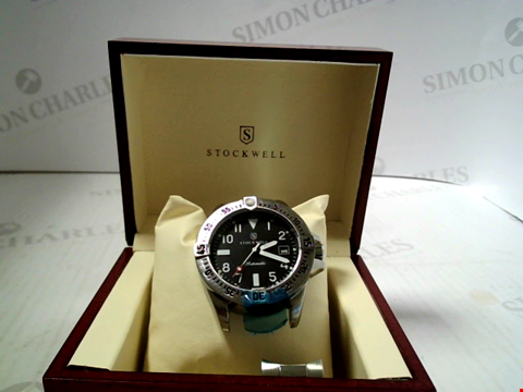 Lot 7161 DESIGNER STOCKWELL AUTOMATIC WATCH WITH STAINLESS STEEL STRAP RRP £625.00