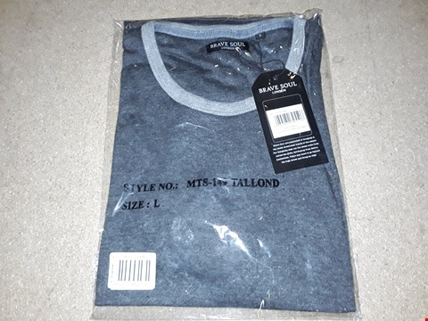 Lot 139 BOX OF APPROXIMATELY 24 LARGE BRAVE SOUL CHARCOAL MARL T-SHIRTS