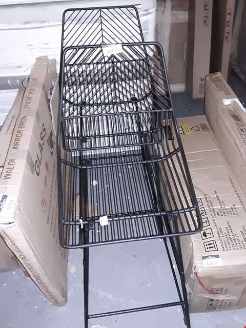 Lot 12152 LOT OF 2 BLACK METAL WIRE OUTDOOR CHAIRS
