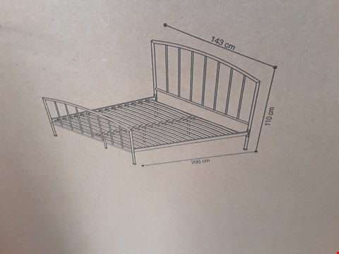 "Lot 306 BRAND NEW DESIGNER BOXED 4'6"" METAL BEDSTEAD IN IVORY (2 BOXES)"