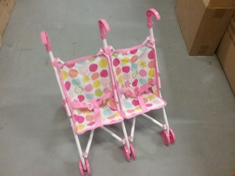 Lot 98 DOLLS TWIN BUGGY RRP £22