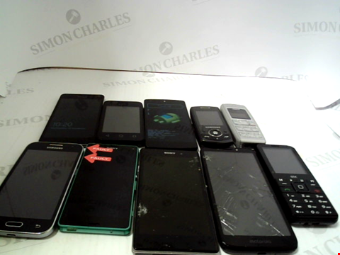 Lot 647 LOT OF APPROXIMATELY 10 ASSORTED MOBILE PHONES AND SMARTPHONES TO INCLUDE SAMSUNG, SONY ETC
