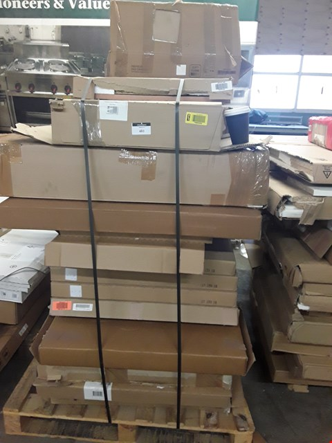Lot 481 PALLET OF ASSORTED FLAT PACK KITCHEN UNITS