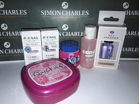 Lot 40 LOT OF 6 ASSORTED NAIL PRODUCTS