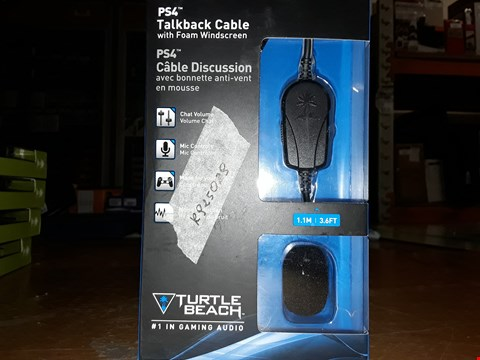 Lot 3260 LOT OF 8 BOXED PS4 TURTLE BEACH TAILBACK CABLE