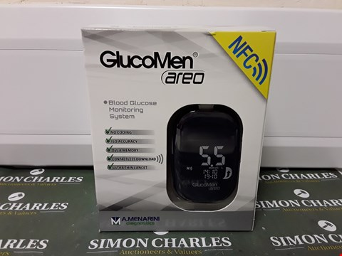 Lot 4533 BOXED SEALED GLUCOMEN AREO BLOOD GLUCOSE MONITORING SYSTEM