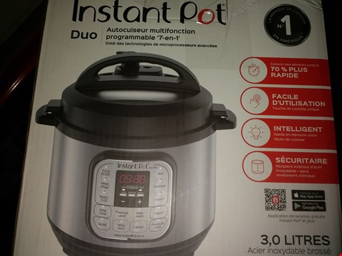Lot 2229 INSTANT POT IPDUO-30 DUO MINI (CONDITION OF BOXES MAY VARY FROM PICTURED)