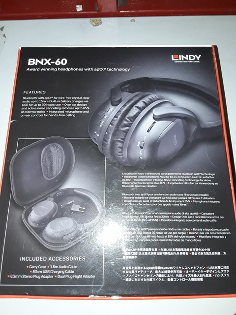 Lot 612 LINDY BNX-60 AUDIO HEADSET