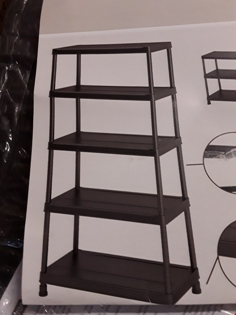 Lot 185 LINKS BLACK 5 SHELF STORAGE RACK